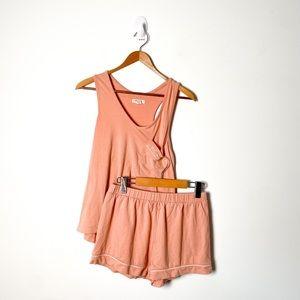 Madewell Peach Loungewear Comfy Pajama Set